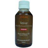 Adyaa Vetiver  Natural Reed Diffuser Oil Refill + 10 Reeds