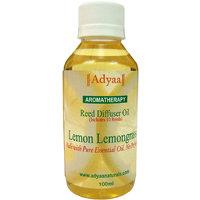 Adyaa Lemon Lemongrass  Natural Reed Diffuser Oil Refill 100ml+ 10 Reeds