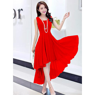 7c46a7dda599 Buy Westrobe Red Plain Western Dress Online   ₹799 from ShopClues