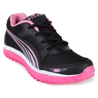 Fitze Womens Pink Black Sports Shoes