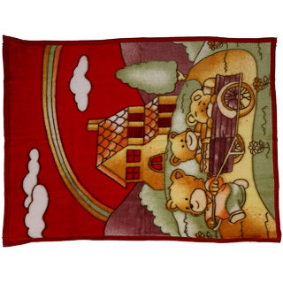 Aarushi Unisex All Season Baby Blanket/Sheet For Infant Kids Print May Very