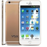 VOX 4 SIM Touch Screen TV Mobile with Dual Camera - V6666- Golden white