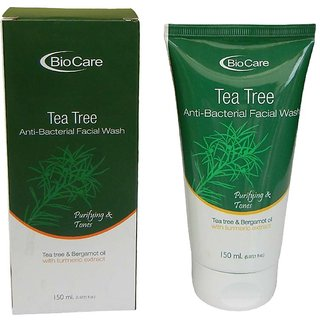 Bio Care Anti Bacterial Tea Tree Face Wash With Turmeric Extract 150ml