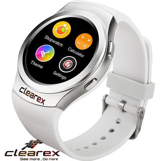 Clearex super vision Android  IOS smartwatch (white strap regular)