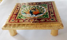 Royals Golden Chowki table For Pooja Purpose