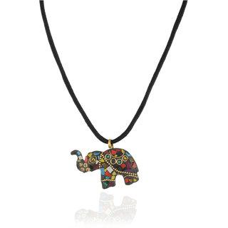 CHICAS Multi-Color Brass And Mosaic Work Strand Neckpiece For Women & Girls