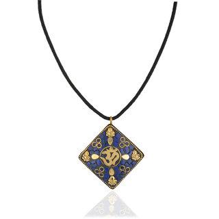CHICAS Blue Color Brass And Mosaic Work Strand Neckpiece For Women & Girls