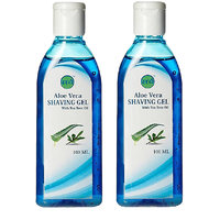 Sarv Aloe Vera Shaving Gel 100 ml(Pack of 2) - Aloe Vera Shave Gel + Hydra Gel + Ultra Sensitive - Shaving Gel For men