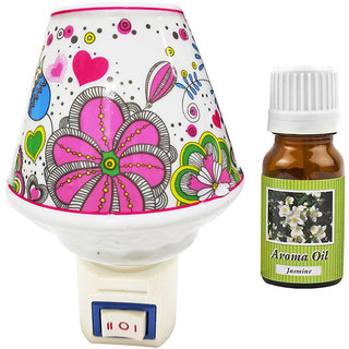 Cocodoes Electric Cup Ceramic Aroma Diffuser with Aroma Oil 10ml (JASMINE) for office spa hotel home fragrance