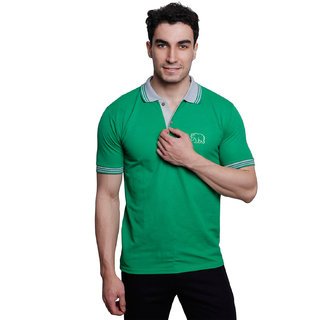 Grand Bear Men's Multicolor Polo Collar T-Shirt