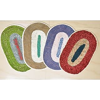 Home Passion Combo of 4 Beautiful Oval Door Mat