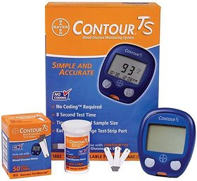 Bayer Contour TS Glucometer  50 (25x2) Strips with very Long Expiry
