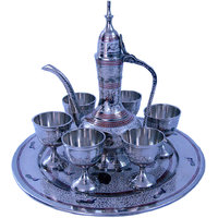 Shoppingtara White Metal Antique Royal Wine Set Handicraft -155