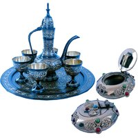 Shoppingtara Buy Antique Royal Wine Set N Get Pure Brass Gemstone Ash Tray Free