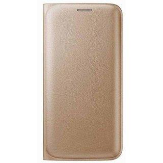 Samsung Galaxy S7 Edge Flip Cover by SNEHA - Golden