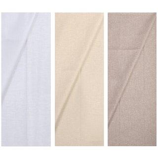Kundan Sulz Gwalior Men's Multicolor Shirt Fabrics Pack of 3