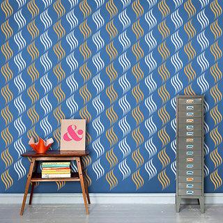 Arhat Stencils Glossy PVC ABSTRACT Wall Stencils E-188