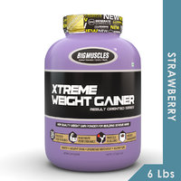 Big Muscles Xtreme Weight Gainer 6 Lbs Strawberry