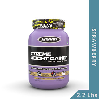 Big Muscles Xtreme Weight Gainer 2.2 Lb Strawberry