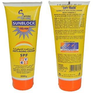 Soft Touch Sun Block Anti Aging Cream With Vit C 200g