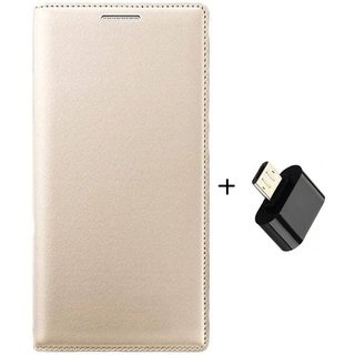 Samsung Galaxy J7 Flip Cover by DRR - Golden