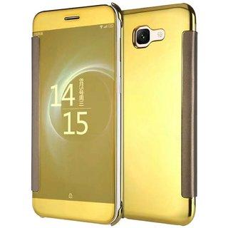 Samsung Galaxy J7 Max Flip Cover by ClickAway - Golden