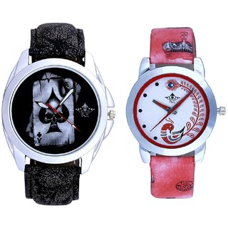 Death Race Akka And Red Leather Strap Analogue Watch By VB International