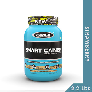 Big Muscles Smart Gainer 2.2 Lb Strawberry