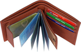 Men's Pure Leather Wallet, Brown, (M-0021)