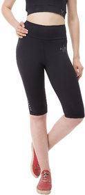 aarmy fit black dry fit ladies capri