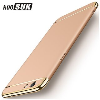 Oppo F3 Dual Selfie Camera Plain Cases ClickAway - Golden
