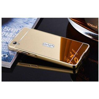 Vivo Y51L Mirror Back Covers Saira - Golden