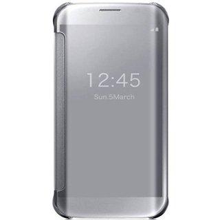 Samsung Galaxy C9 Pro Flip Cover by R K RETAILER - Silver
