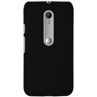 Coverage Back Cover Case For Motorola Moto X Play - Black