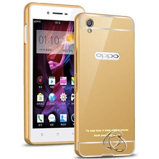 Oppo A37 Mirror Back Covers SNI - Golden
