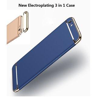 Oppo F3 Plus Dual Selfie Camera Plain Cases ClickAway - Blue