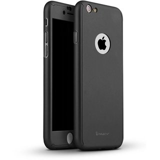 Techjunkie iPhone 6 & 6s 360 Degree Full Protection Case with Tempered Glass