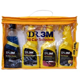 DASHBOARD POLISH 250ml.+ TYRE POLISH 250ml.+ LEATHER POLISH  250ml.+ CAR GLASS CLEANER 250ml. + 2 PC CAR MICROFIBER CLOTH.
