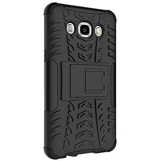 Premium Black Shockproof back cover with Kickstand for Samsung Galaxy J7 2016 Edition