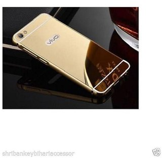 Vivo Y55L Mirror Back Covers KEP - Golden