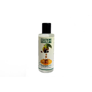 S & H 100 % natural and pure cajeput oil 200 ml