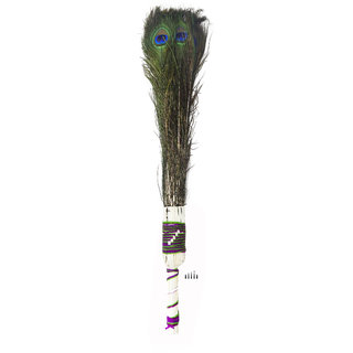 Natural Peacock Feathers /Mor Pankh Feather Tails In Full Length Broom For Decoration/ Pooja /Craft/  27 Inch Broom