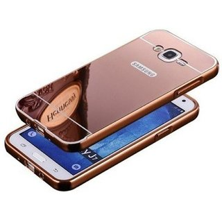 KTC Rose Gold mirror back cover for samsung galaxy j7 2016 mobile phone