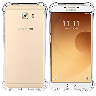 Samsung Galaxy J7 Max Soft Silicon Cases ClickAway - Transparent with free selfie stick