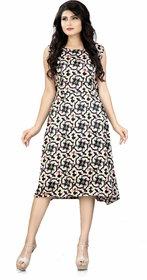 HSFS WOMAN'S JAPAN SATIN DIGITAL PRINTED DRESS