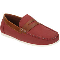 Bond Street By Red Tape Men Red & Maroon Solid Loafers
