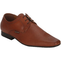 Red Tape Men Red Brown Leather Formal Derby Shoes