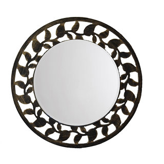 Aasra Decor Leaf Border Mirror