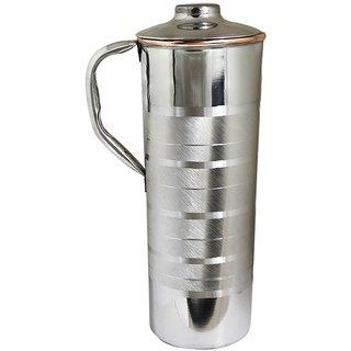 Saga Copper Coated Stainless Steel Bottle 910 Ml Silver