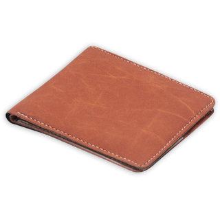 Unique Men's Tan Color Wallet ( TN-001) (Synthetic leather/Rexine)